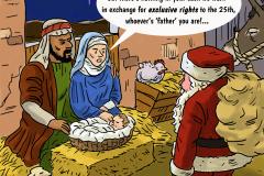 Santa-Nativity