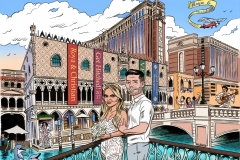 Wedding Cartoon coloured